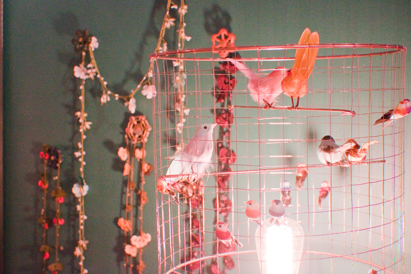bird cage lamp shades at LARA boutique, Brighton