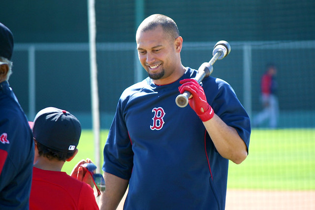 Shane Victorino @ Red Sox Spring Training Camp