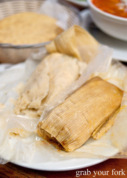 tamales at tamales lilianas restaurante mexican in east los angeles
