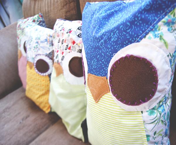 Almofadas de coruja