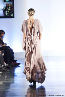 Eco Fashion Week Day 3 Evan Ducharme Fashion Collection Belladonna - Pink Flare Very Long Dress