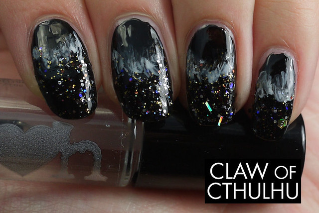 Rainbow Honey Black Hole Nails Nail Art