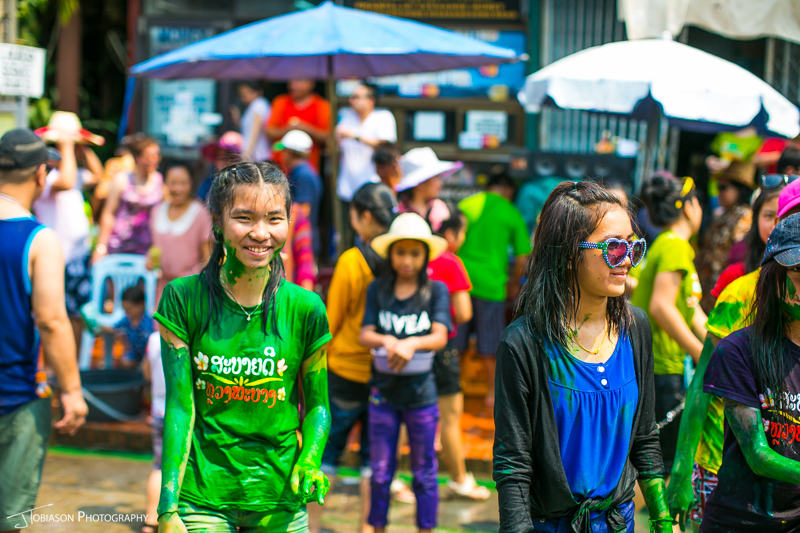 dye at Pi Mai Luang Prabang