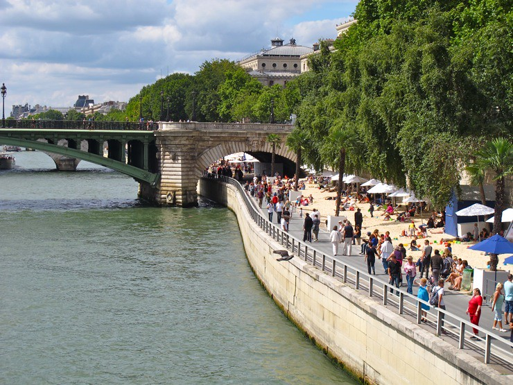 The Seine beach in Paris