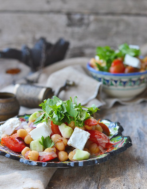 chickpeas and vegetebles salad.