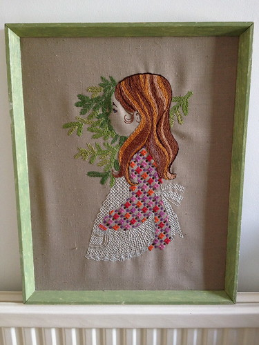 1960s Embroidered Girl