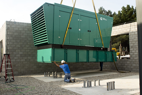 Generator Being Lowered