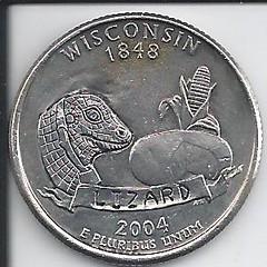 Wisconsin Quarter Lizard