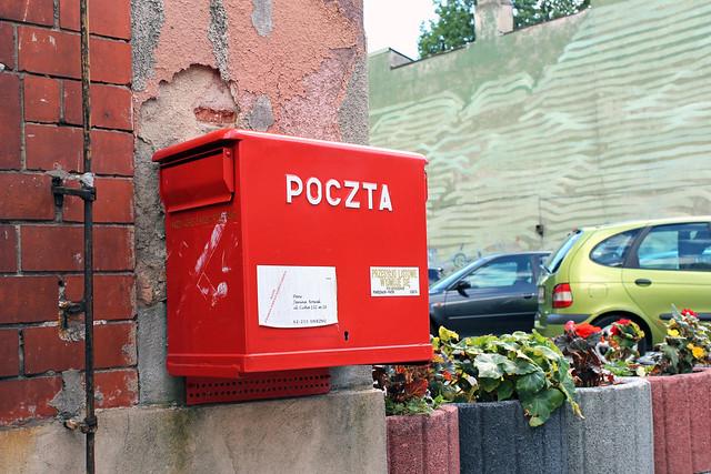 Briefkasten der Polnischen Post