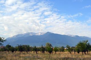 Pohled na Pirin z Banska.