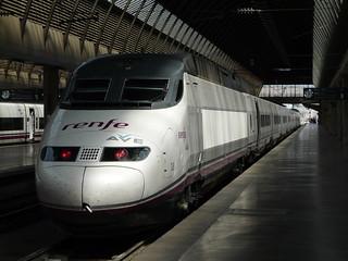 Ave train at Sevilla Santa Jusa Station