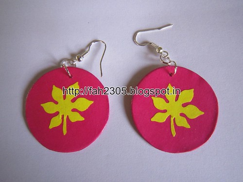 Handmade Jewelry - Paper Punch Earrings (2) by fah2305