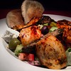 Sultan's Mediterranean Cuisine in West Chester.  Greek Salad topped with a Chicken Kebab.  Yum