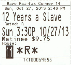 12 Years a Slave ticketstub