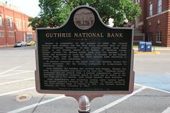 Guthrie National Bank, Guthrie, Oklahoma Historical Marker
