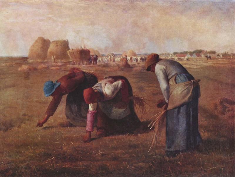 9.MILLET. Las Espigadoras, 1857.