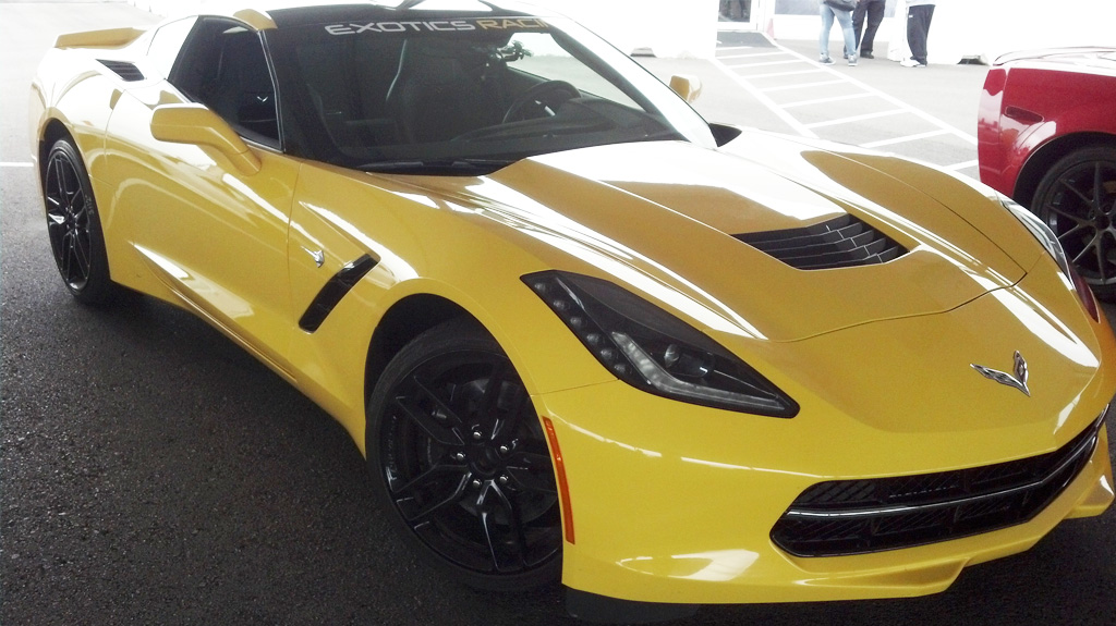 Exotics Racing yellow Corvette Stingray