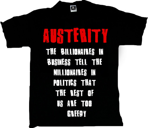 AUSTERITY - THE T-SHIRT by Teacher Dude's BBQ