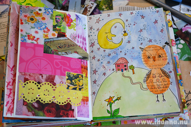 Art Journal Peek: Collage and Illustration