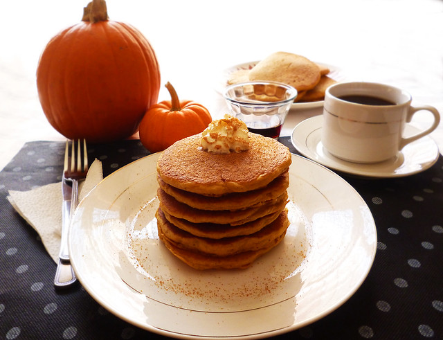 Raspberry Bloom: Pumpkin Spice Pancakes