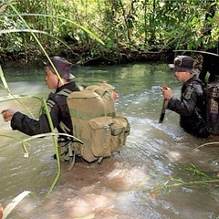 Rhino Protection Unit (RPU) on patrol in Indonesia. These brave men endure a lot of tough weather and terrain to protect the endangered Sumatran rhino population. #rhinos #5rhinos5wishes