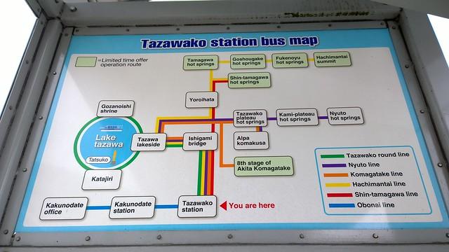 Tazakako Bus Map