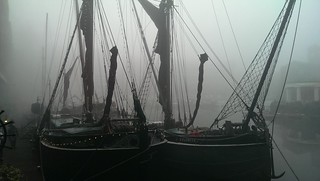 St Katherine Docks in the Fog