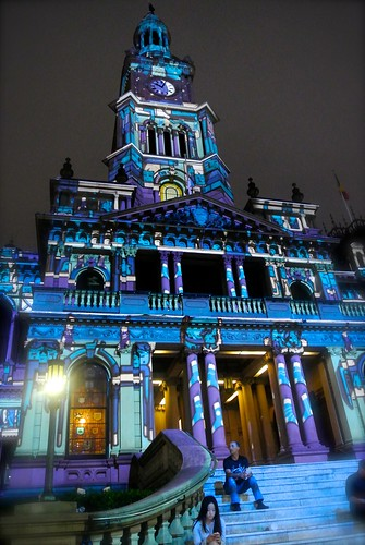 Sydney Town Hall Christmas Projections