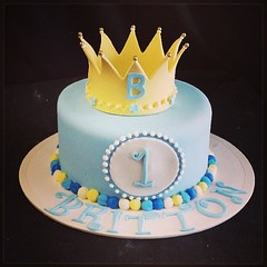 Galleries | A sweet first birthday cake for a prince ...