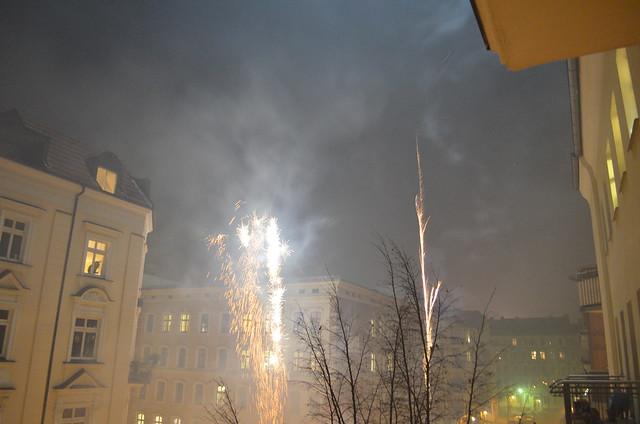 Berlin NYE fireworks corner