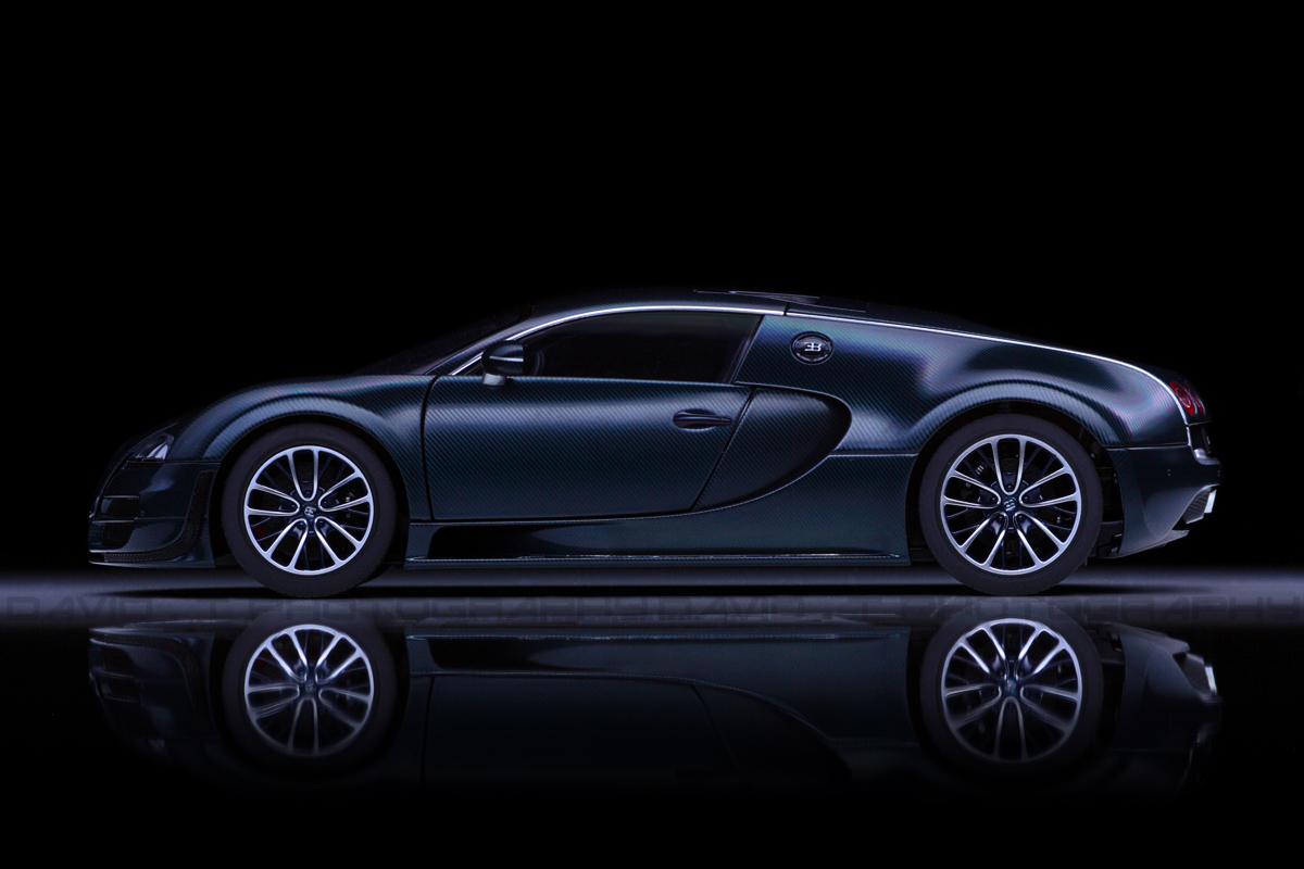 Autoart Bugatti Veyron Super Sport Blue Carbon Fibre Diecastsociety Com