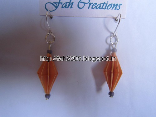 Handmade Jewelry - Origami Paper Diamond Earrings (20) by fah2305