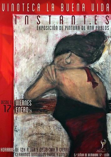 INSTANT.ES - EXPOSICIÓN DE PINTURA DE ANA PABLOS - VINOTECA LA BUENA VIDA by juanluisgx