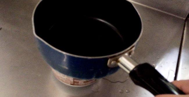 鍋(ヤカン)を容器の上でグリグリ