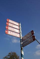 ANWB wegwijzer in Leiden