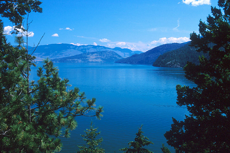 Okanagan Lake in Vernon, North Okanagan Valley, British Columbia, Canada