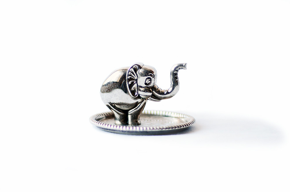 Vintage Metal Elephant Ring Holder