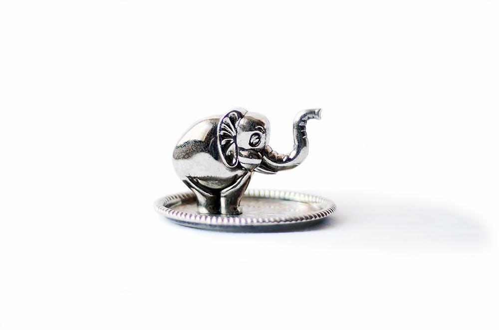 Vintage Metal Elephant Ring Holder