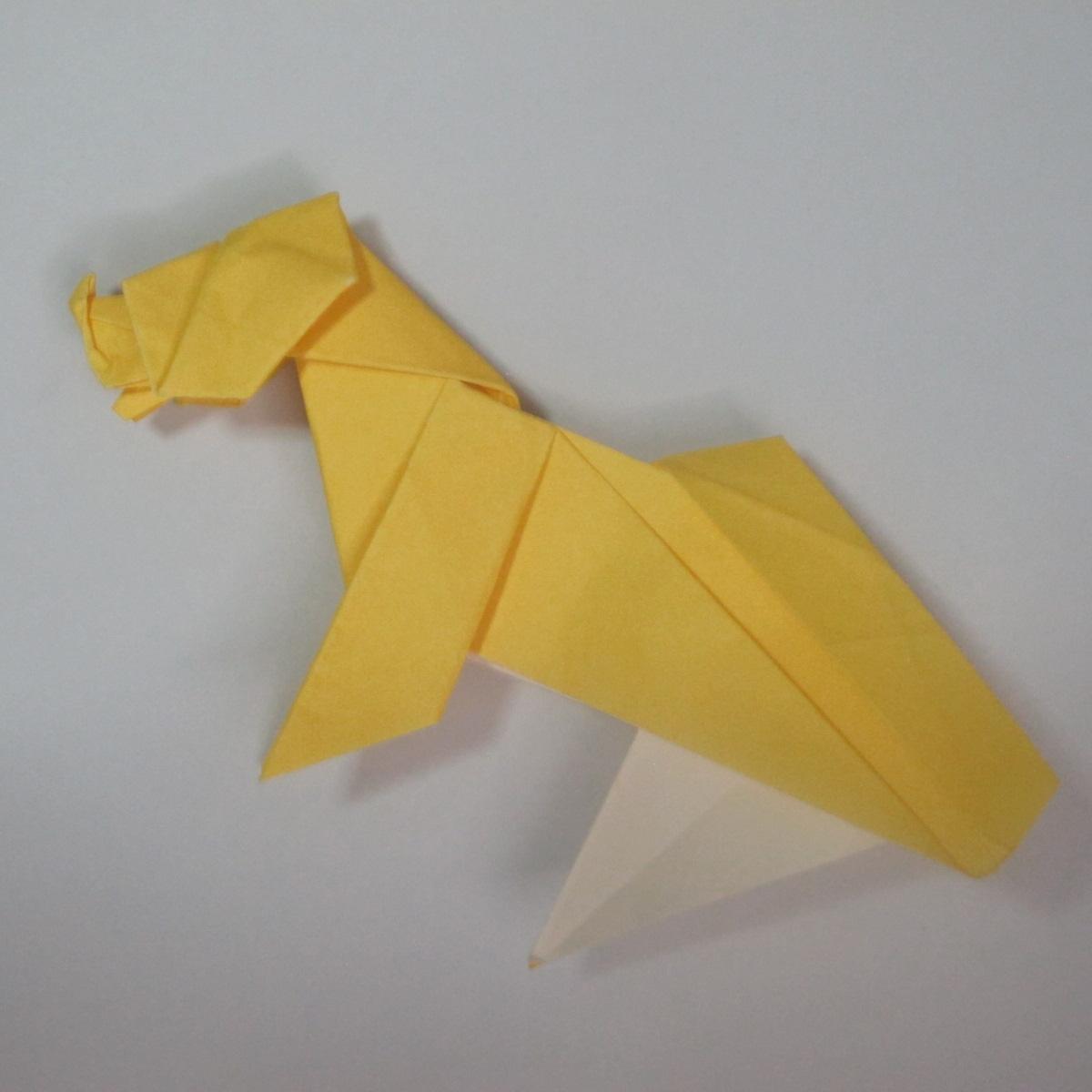 สอนวิธีพับกระดาษเป็นรูปลูกสุนัขยืนสองขา แบบของพอล ฟราสโก้ (Down Boy Dog Origami) 104