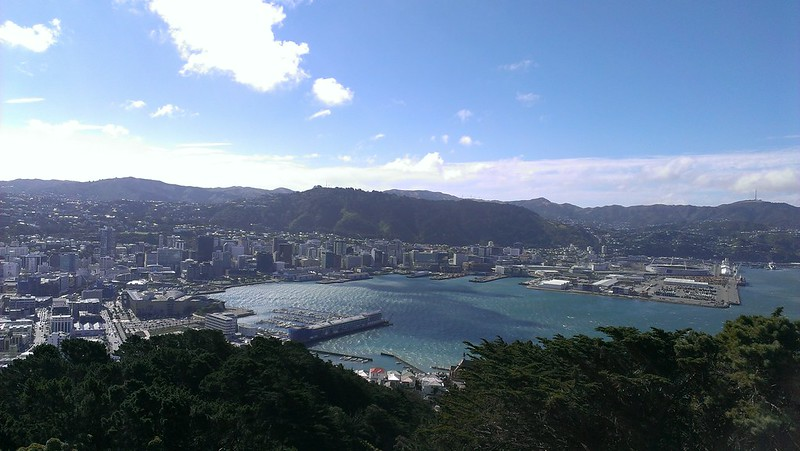 View on Wellington Harbour from Mount Victoria