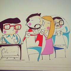 La señal del celular. #dailyfastsketch #mywork #morphart #madebyme #illustration #ilustración #sketch #boceto