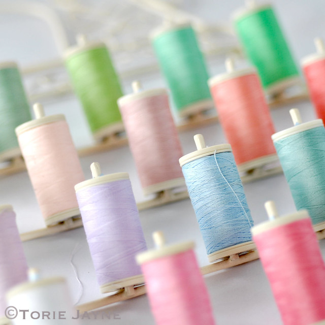 Organised sewing threads