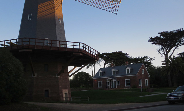 windmill at golden gate park, san francisco 2014