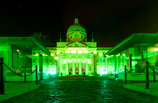 Government Buildings Green for St Patrick's Day
