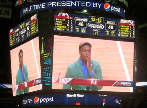 Washington, wizards, charlotte, bobcats, nba, truth about it, adam mcginnis, tai, p-e, halftime entertainment, contest, talent