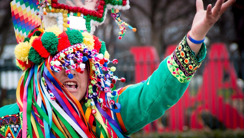 Traditional dress at Ireland carnival