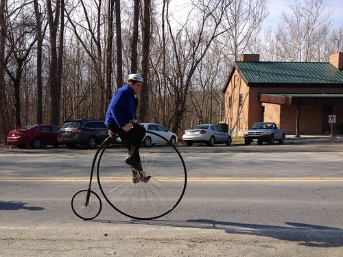 There goes the pennyfarthing!