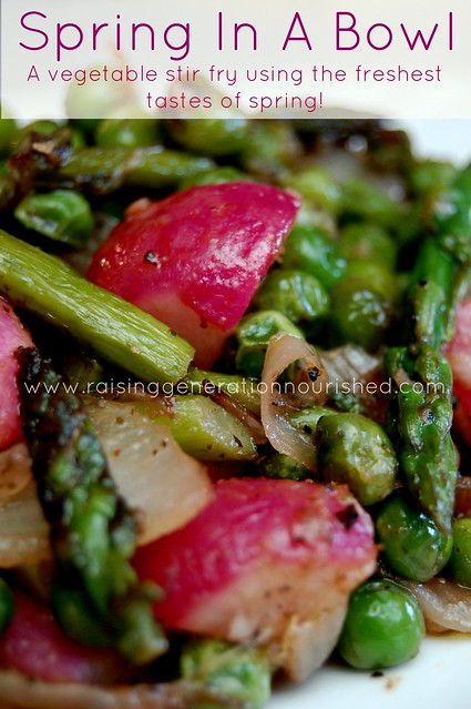 Spring In a Bowl :: A Vegetable Stir Fry Using The Freshest Tastes of Spring!