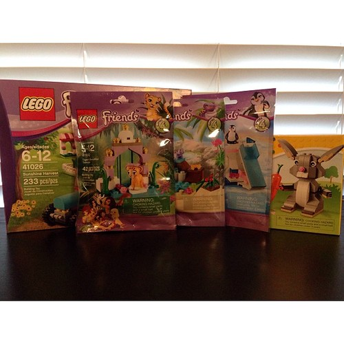 84:365 Chris brought home presents for the sick kiddo! (I got a bunny too!!) #lego
