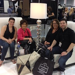Enjoying the comfortable couches at the booth. #cses2014 #catersource #tradeshow #eventsetup #eventplanners #finelineproducts